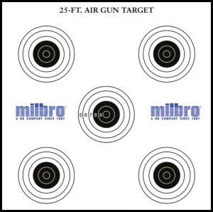 5 bull`s eye card targets